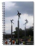 Three Angels At Missouri Botanical Garden Spiral Notebook