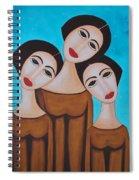 Three Angels Spiral Notebook