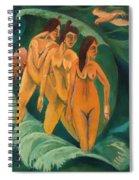 Three Bathers Spiral Notebook