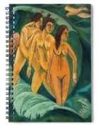 Three Bathers Spiral Notebook