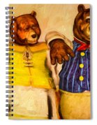 Three Bears Family Portrait Spiral Notebook