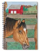 Three Beautiful Horses Spiral Notebook