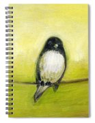 Three Birds On A Wire No 2 Spiral Notebook