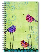 Three Birds - Spring Art By Sharon Cummings Spiral Notebook