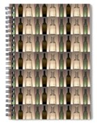 Three Bottles Collage Spiral Notebook