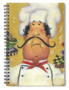 Three Bowl Chef On Gold Spiral Notebook