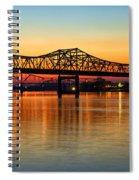 Three Bridge Sunset Spiral Notebook