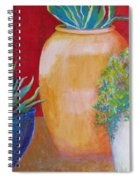Three Bright Pots Spiral Notebook