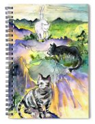 Three Cats On The Penon De Ifach Spiral Notebook