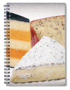 Three Cheese Wedges Distressed Spiral Notebook
