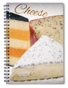 Three Cheese Wedges Distressed Text Spiral Notebook