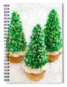 Three Christmastree Cupcakes  Spiral Notebook