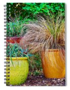 Three Colorful Pots Spiral Notebook