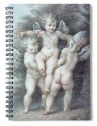 Three Cupids Spiral Notebook