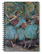 Three Dancers.blue Tutus Red Bodices Spiral Notebook