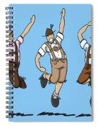 Three Dancing Oktoberfest Lederhosen Men Spiral Notebook