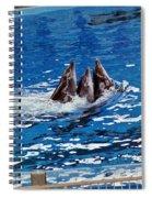 Three Dolphins Spiral Notebook
