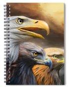 Three Eagles Spiral Notebook