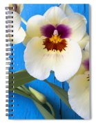 Three Exotic Orchids Spiral Notebook