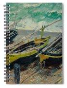Three Fishing Boats Monet 1886 Spiral Notebook