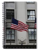 Three Flags Together On 5th Avenue Spiral Notebook