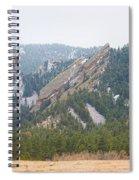 Three Flatirons Boulder Colorado Spiral Notebook