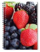 Three Fruit - Strawberries - Blueberries - Blackberries Spiral Notebook