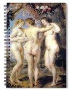 Three Graces Spiral Notebook