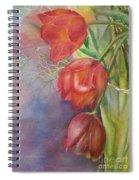 Three In A Vase Spiral Notebook