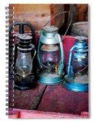 Three Kerosene Lamps Spiral Notebook