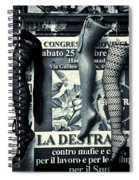 Three Mannequin Legs Spiral Notebook