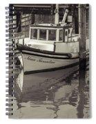 Three Little Boats Sepia Spiral Notebook