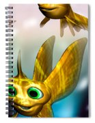 Three Little Fishies And A Mama Fishie Too Spiral Notebook