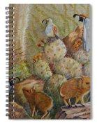 Three Little Javelinas Spiral Notebook