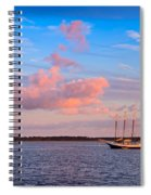 Three Masted Schooner At Anchor In The St Marys River Spiral Notebook