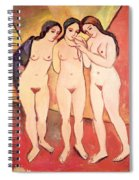 Three Naked Girls Spiral Notebook
