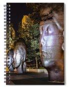 Three New Faces In Chicago's Millennium  Park Spiral Notebook