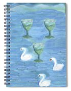Three Of Cups Spiral Notebook