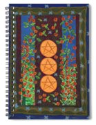 Three Of Pentacles Spiral Notebook