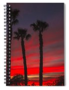 Three Palm Sunset Spiral Notebook