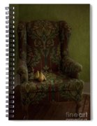 Three Pears Sitting In A Wing Chair Spiral Notebook