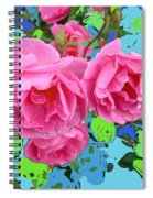 Three Pink Roses By M.l.d.moerings 2010 Spiral Notebook