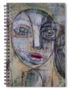Three Portraits On Paper Spiral Notebook
