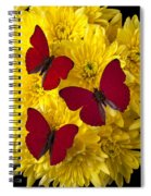 Three Red Butterflys Spiral Notebook