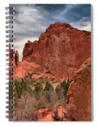 Three Red Towers Spiral Notebook