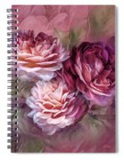 Three Roses Burgundy Greeting Card Spiral Notebook