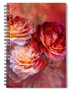 Three Roses Red Greeting Card Spiral Notebook