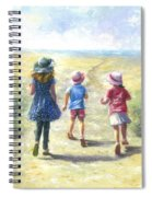 Three Sisters Beach Path Spiral Notebook