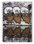 Three Skulls Graffiti Spiral Notebook