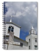 Three Steeples On Historic Florida Church Spiral Notebook